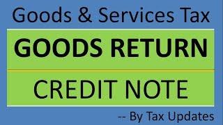 जी. एस. टी. में sales return कैसे होगी | How to record sales return in GST |