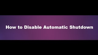 How to disable automatic shutdown due to over heating on windows 7