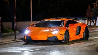 BEST OF Lamborghini Aventador Sounds ! Flames, Revs & Accelerations