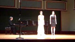 "Steffi Holmes and Erin Magnin singing ""Spring Wind"" by Eric Thiman"