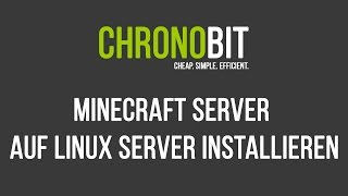 Bestellung Verwaltung Und Kündigung Auf ChronoBitnet - Minecraft server erstellen vserver