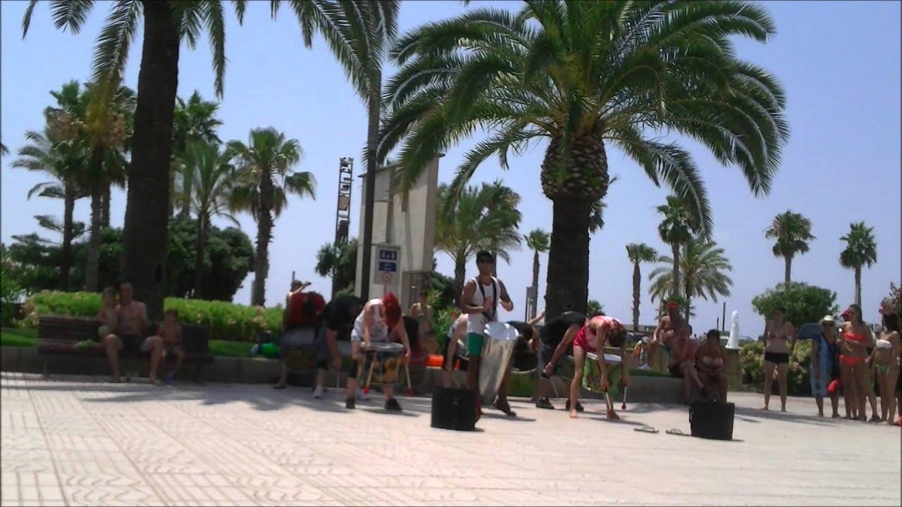 Download Salou Beach drummers, african drumming, reggae drummers