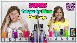SUPER TWIN TELEPATHY BACKWARDS SLIME CHALLENGE !