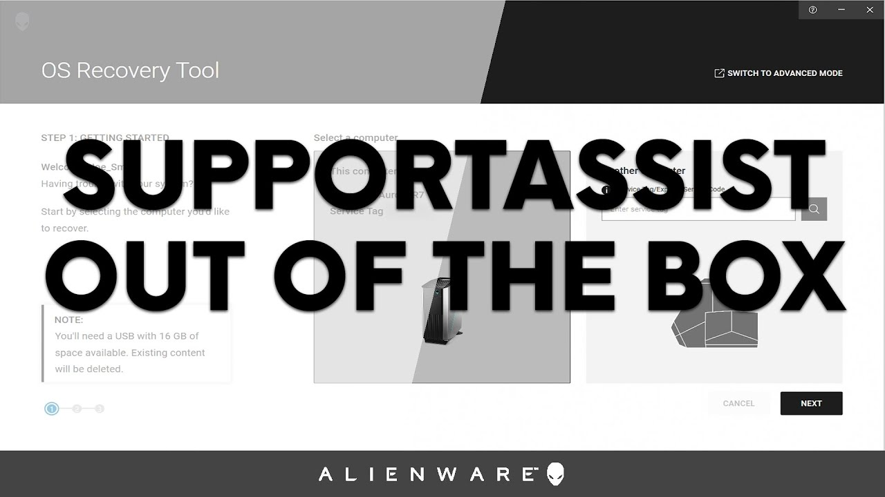 Alienware Out of the Box – SupportAssist