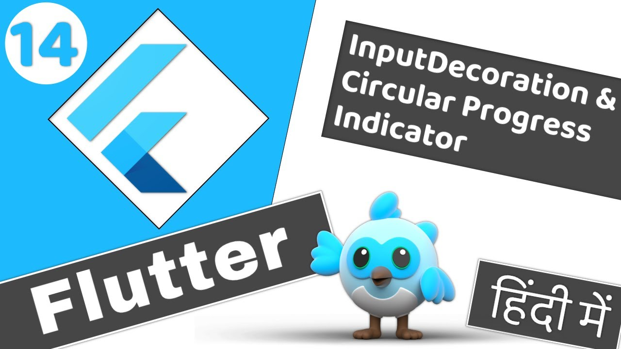 Input Decoration and Circular Progress Indicator | Flutter 2 tutorial for beginners #14