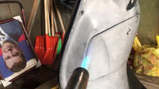 Японский б/у скутер Honda Lead AF 48 восстановление пластмассы часть 4