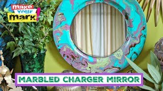 Marbled Charger Mirrors