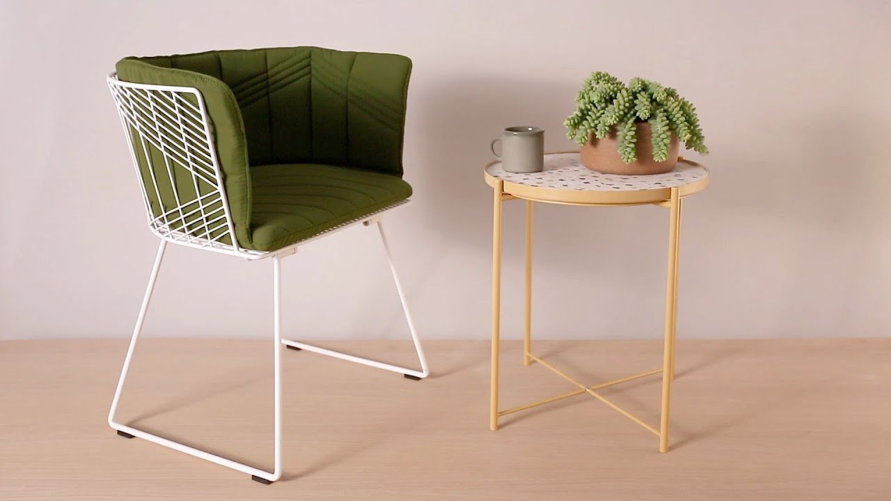 Create a Terrazzo Table With This Clever Ikea Hack - YouTube