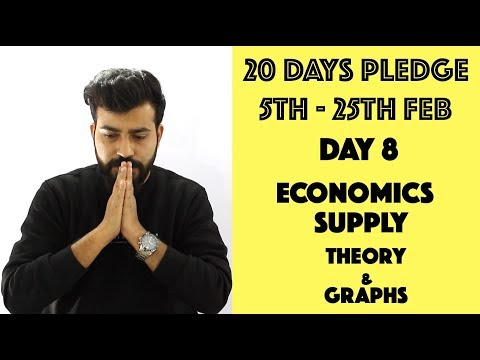 Day- 8 - Supply - Theory & Graphs - class 12th #20dayspledge #commercebaba