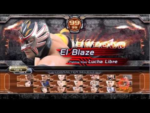 Ps3 Virtua Fighter Final Showdown El Blaze Gameplay