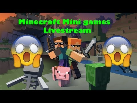 Minecraft Minigames on Wii U Come Join | Back From Holiday Stream
