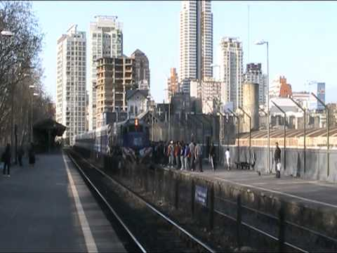 Diesel Suburban Train arrives at Palermo station in Buenos Aires Argentina