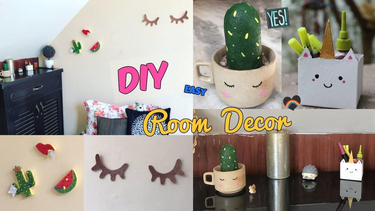 Cute Diy Home Decor Ideas: DIY Super Cute & Cheap Room Decor (dorm)!!- Cactus,unicorn