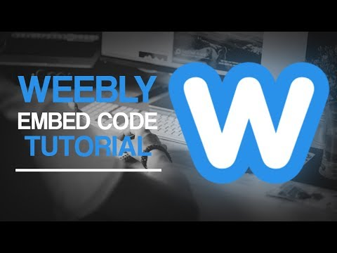Weebly Tutuorial - Embed Code & Link Buttons