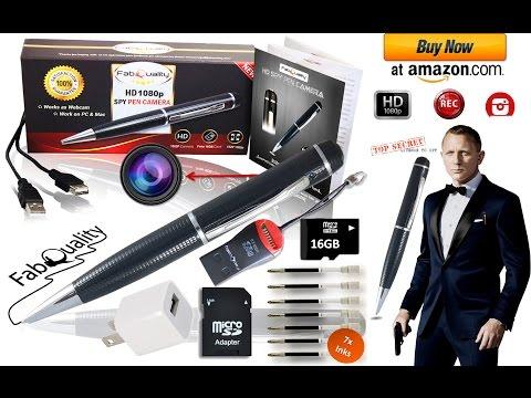 How to Use  Spy Pen Camera Test HD Quality Hidden Camera Pen Video 720p - Pen camera recording demo
