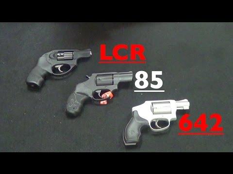Ruger LCR vs S&W 642 vs Taurus 85 - A Revolver Comparison