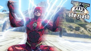 THE FLASH RUNS AT SPEED OF LIGHT! Fastest Man Alive (GTA 5 Quicksilver Mod)