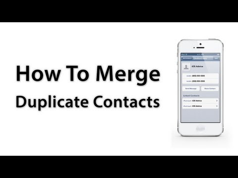 [iOS Advice] How To Merge Duplicate Contacts - iPhone / iPad / iPod touch
