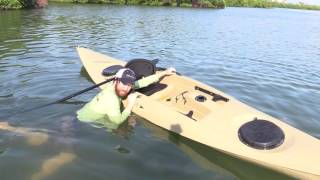 How To Re-Enter A Kayak In Deep Water [Standard & Trick Method]