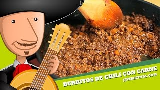 Burritos de Chili con Carne - Javi Recetas