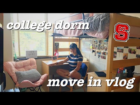 COLLEGE DORM MOVE IN VLOG | Freshman Year / NC State University