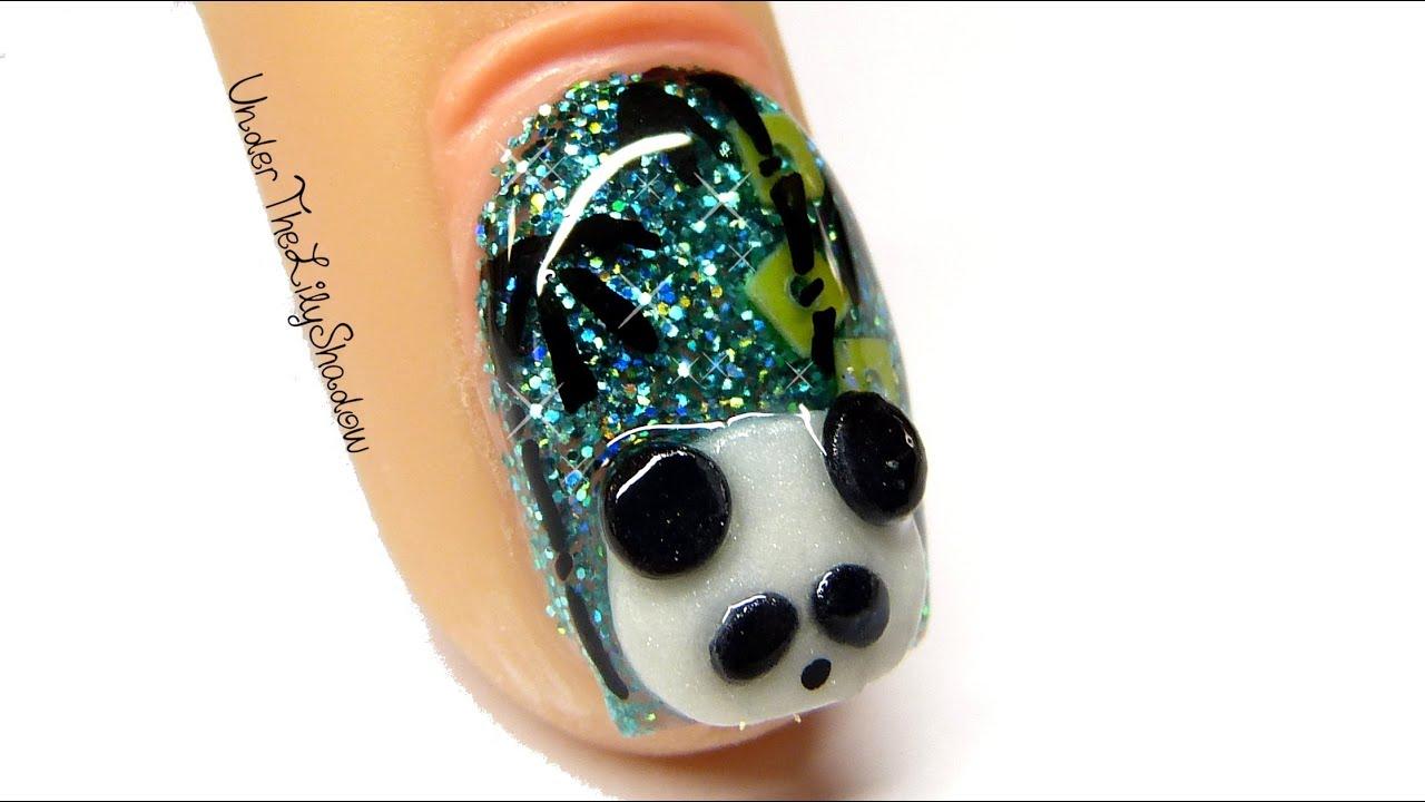 Panda nail art youtube panda nail art prinsesfo Choice Image