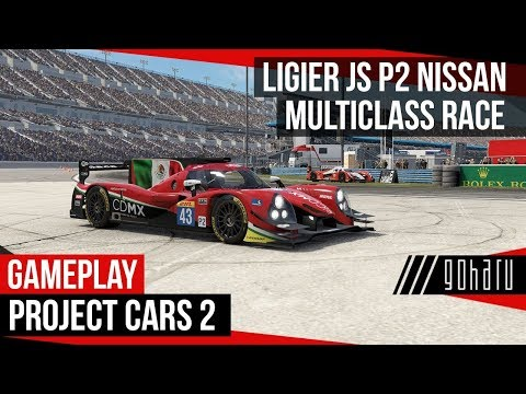 Project CARS 2 WIP @ Ligier JS P2 Nissan Multiclass Race 30 min | Daytona International Speedway