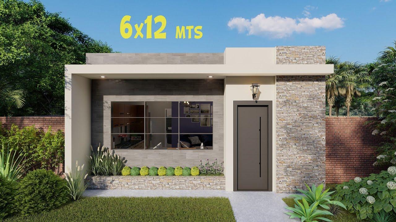 Plano De Casa De 6 X 12 Metros Planos De Casas Pequeñas Youtube