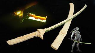 300 часов, чтобы сделать меч GENJI из деревянной доски