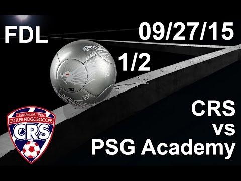 U18 Cutler Ridge Premier 97/98 vs PSG Academy (First Half)