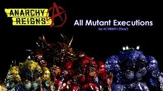 Anarchy Reigns - All Mutant Executions / Finishers