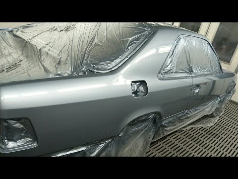 Spraying an Old Benz in Liquid Glass with DV1 & SATA X-5500