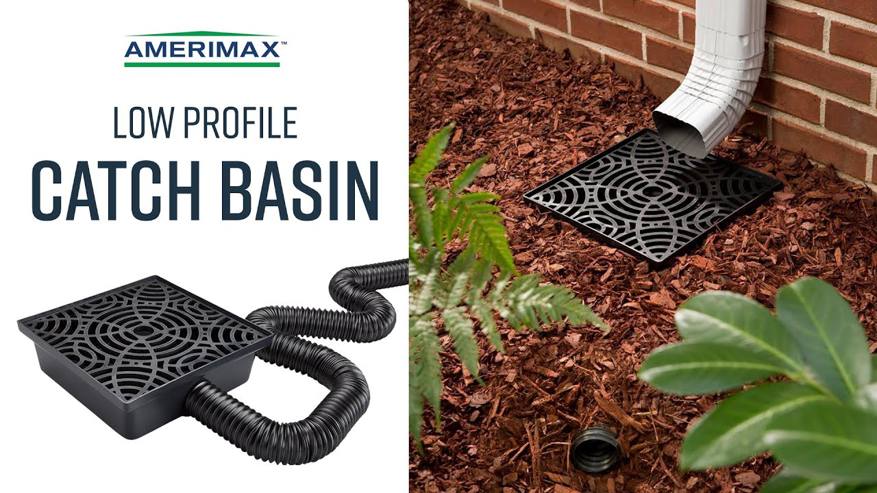 Amerimax Stealth Drain Low Profile Catch Basin No Dig Drainage Solutions Youtube