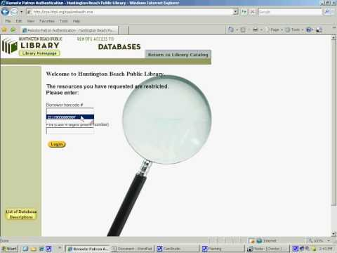 How To Access Heritage Quest Database At The Huntington Beach Public Library