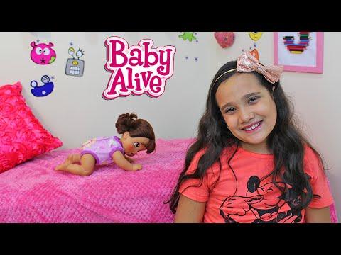BABY ALIVE QUE ENGATINHA - HORA DO PASSEIO! JULIANA BALTAR