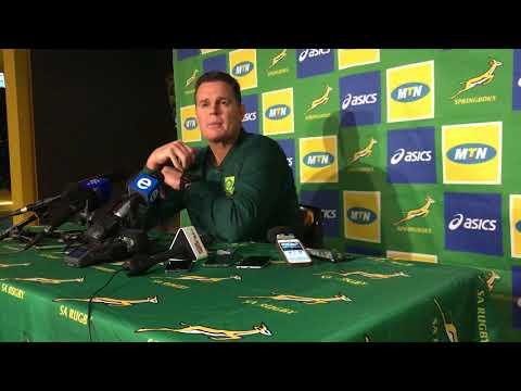 Springbok press conference (18/06/18)