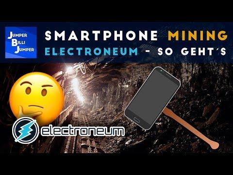 Smartphone Mining Deutsch - Electroneum Mining
