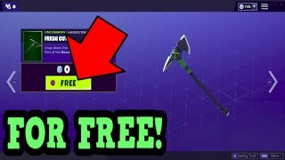 *NEW* HOW TO GET THE FRESH CUT PICKAXE FOR FREE! (Fortnite: Battle Royale)