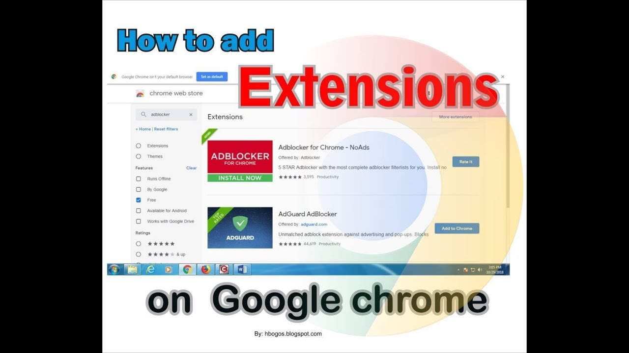 install adblock extension chrome android