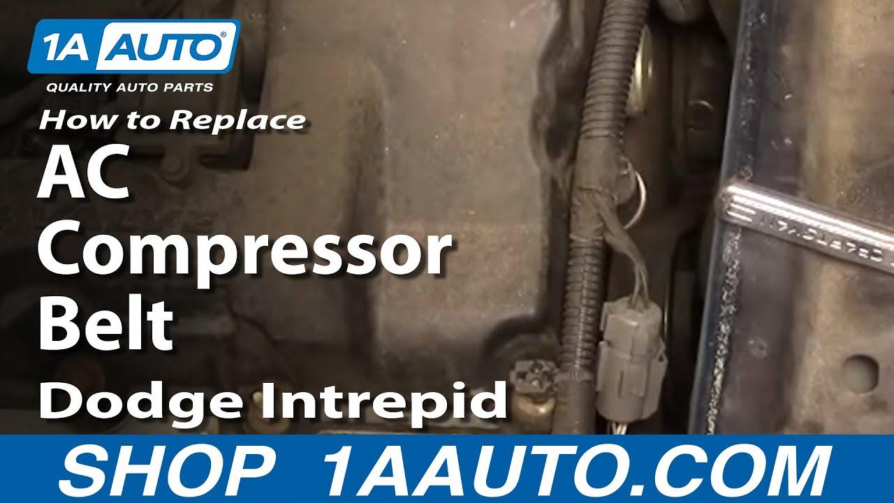 auto repair replace ac compressor belt dodge intrepid 98 04 2 7l 1aauto com youtube [ 1920 x 1080 Pixel ]