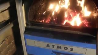 Как горит Атмос (Atmos DC) пиролизный отопительный котел на дровах, видео обзор пользователя