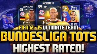 TOTS 95 ROBBEN & TOTS 94 LEWANDOWSKI BEST BUNDESLIGA TOTS SQUAD! (FIFA 12, 13, 14 & 15 CUSTOM SQUAD)