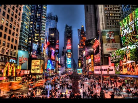 New York Manhattan Times Square At Night