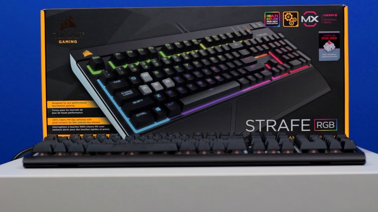 48724ac5ef7 Corsair Strafe RGB Mechanical Keyboard (Cherry MX Red) - So many colors!