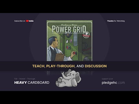 Power Grid (recharged) - 5p Teaching, Play-through, & Round table by Heavy Cardboard