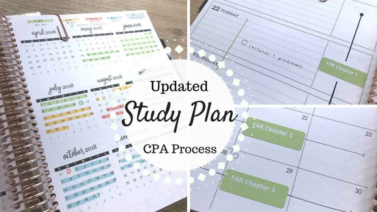 Updated cpa study plan becker cpa youtube for Becker study plan
