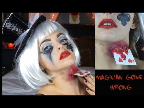 creepy magician halloween makeup youtube. Black Bedroom Furniture Sets. Home Design Ideas