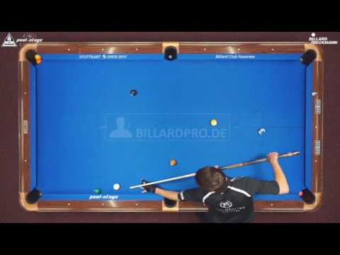 Stuttgart Open 2017, No. 11, Sebastian Staab vs. Abdurrahim Akdag, 10-Ball, Pool-Billard