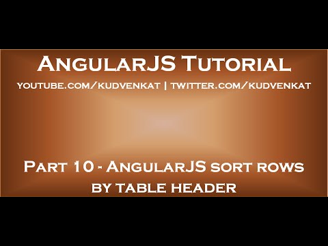 AngularJS sort rows by table header