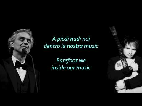 Ed Sheeran, Perfect Symphony ft Andrea Bocelli lyrics & translate